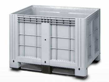 Цельнолитой полимерный контейнер на полозьях Ibox 11.602.91.РЕ.C9 (1200х800) (серый)
