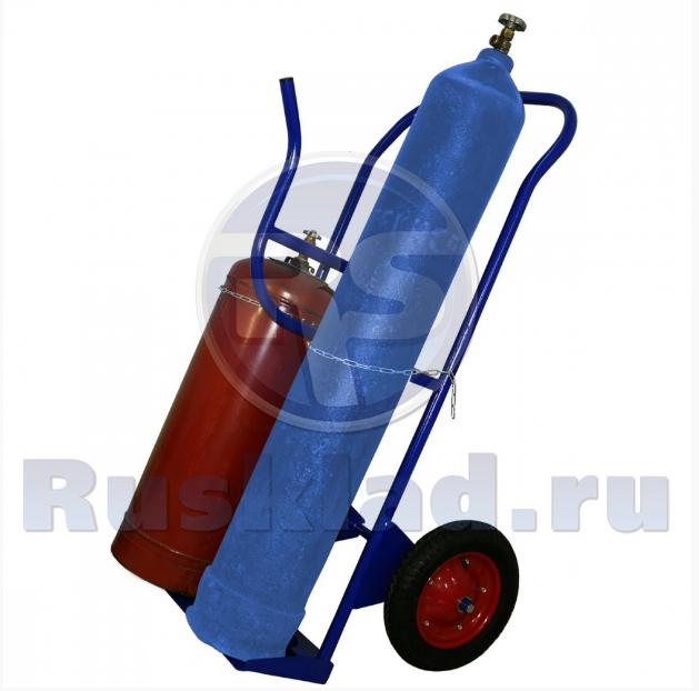 Тележка двухколёсная КП-2У для кислорода, пропана и газовых шлангов