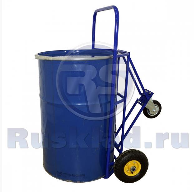 Бочковоз. Тележка для перевозки и хранения металлических бочек КБ 2