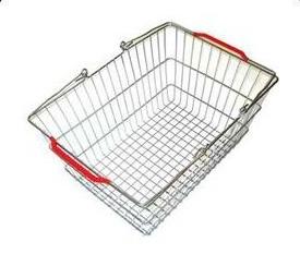 Покупательская металлическая корзина 20 л 400×285×190